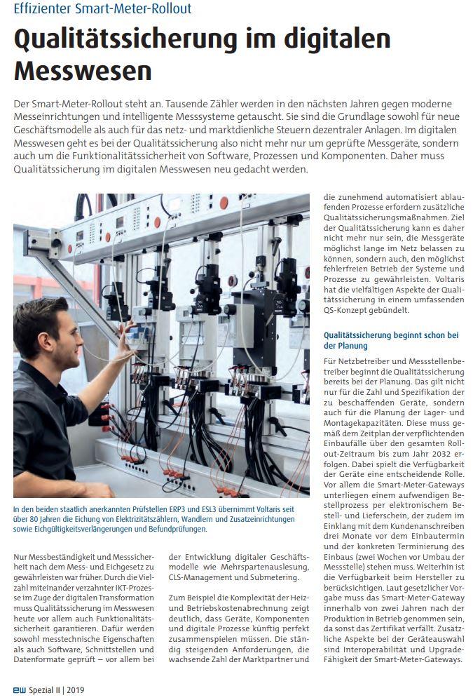 intelligenter Messstellenbetrieb VOLTARIS, Smart Meter Rollout